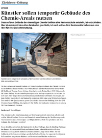 Künstler sollen temporär Gebäude des Chemie-Areals nutzen