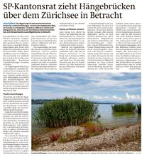SP-Kantonsrat zieht Hängebrücken über dem Zürichsee in Betracht